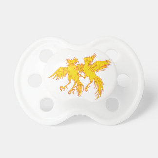 Cockfighting Roosters Cockerel Drawing Pacifier