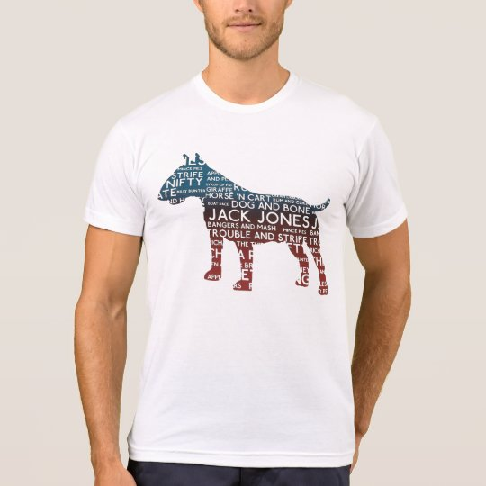 Cockney Bull Terrier Typography T-Shirt