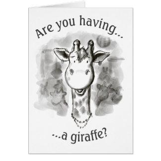 Cockney Rhyming Slang Funny Giraffe Card