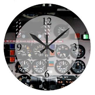 Cockpit Large Clock