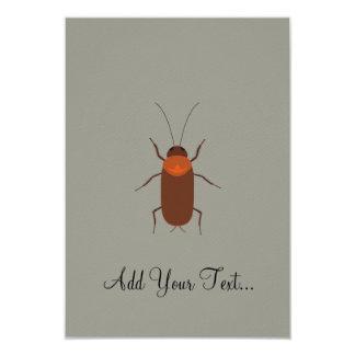 "Cockroach 3.5"" X 5"" Invitation Card"