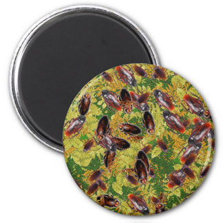 Cockroaches 2 Inch Round Magnet