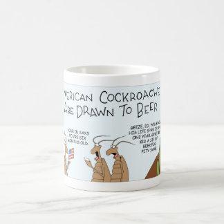 Cockroaches like beer coffee mug
