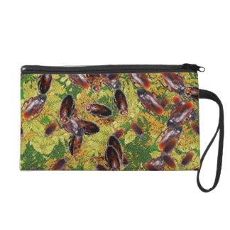 Cockroaches Wristlet Clutch
