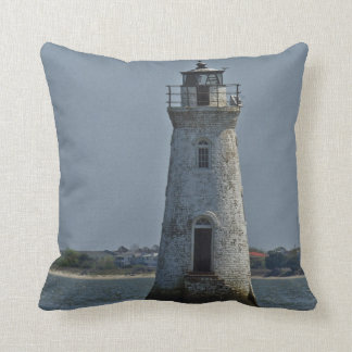 Cockspur Island Lighthouse 1 Throw Pillow