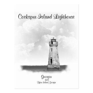 Cockspur Island Lighthouse - Georgia Postcard