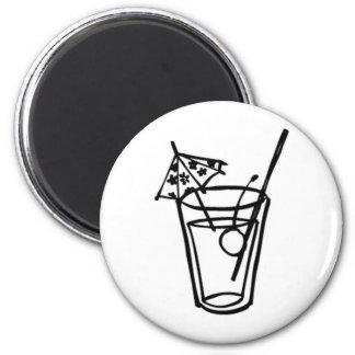 Cocktail 2 Inch Round Magnet