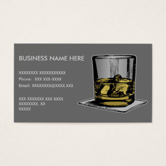 Cocktail and Napkin Design Business Card