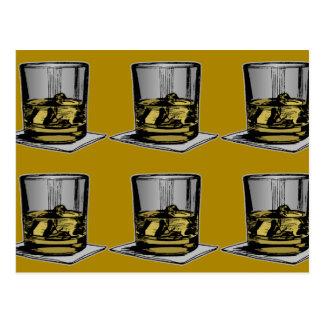 Cocktail and Napkin Design Postcard
