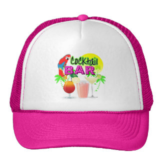 Cocktail Bar Exotic Tropical Summer Sun Graphic Trucker Hat