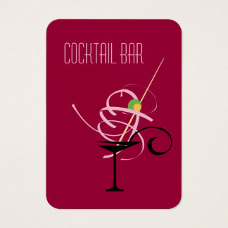 Cocktail Bar Nightclub Bartender Business Card