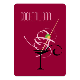 Cocktail Bar Nightclub Business Card