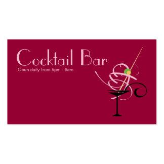 Cocktail Bar Nightclub Event Planner Business Card