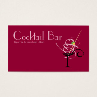 Cocktail Bar Nightclub Event Planner Business Card