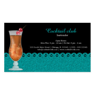 Cocktail bartender pack of standard business cards