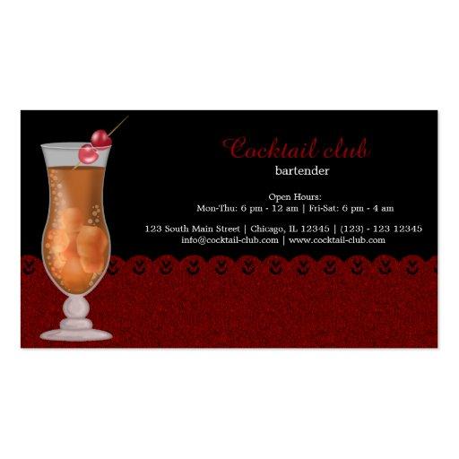 Cocktail bartender business card templates