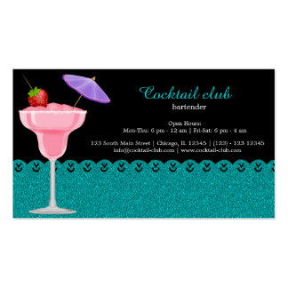 Cocktail bartender business card template