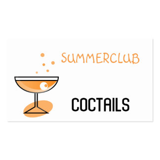 cocktail pack of standard business cards