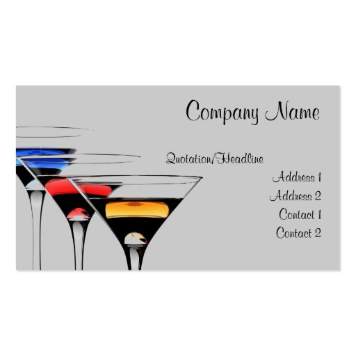Cocktail business card