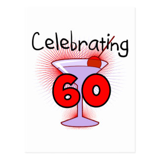 Cocktail Celebrating 60 Tshirts and Gifts Postcard