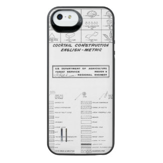 Cocktail Construction Guide iPhone SE/5/5s Battery Case