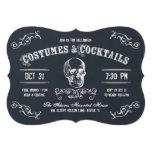 Cocktail de Halloween de crâne de tableau Carton D'invitation 12,7 Cm X 17,78 Cm