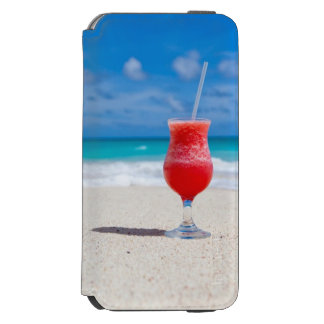 Cocktail Drink on Sandy Tropical Beach Incipio Watson™ iPhone 6 Wallet Case