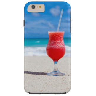 Cocktail Drink on Tropical Beach Tough iPhone 6 Plus Case