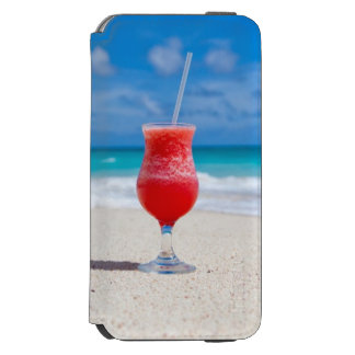 Cocktail Drink Tropical Beach Turquoise Water Incipio Watson™ iPhone 6 Wallet Case