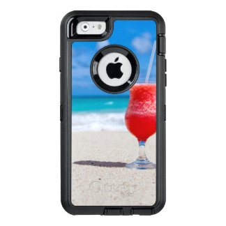 Cocktail Drink Tropical beach Turquoise Water OtterBox Defender iPhone Case