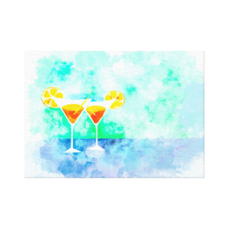 Cocktail Drinks bar painting Canvas Print
