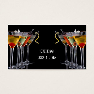 Cocktail Drinks Business Card