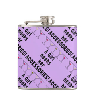 COCKTAIL FLASK - A GIRL NEEDS HER ACCESSORIES