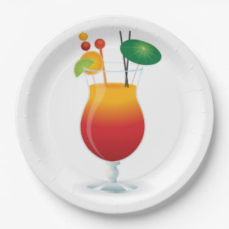 COCKTAIL GLASS 9 INCH PAPER PLATE