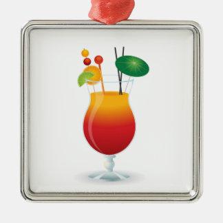 COCKTAIL GLASS METAL ORNAMENT