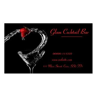 Cocktail Glass Spill Business Card