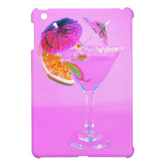 cocktail glass with cocktail paper umbrellas iPad mini cover