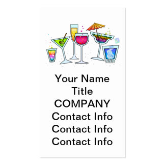 COCKTAIL GLASSES BUSINESS CARD