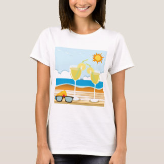 Cocktail glasses by the sea T-Shirt