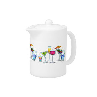 COCKTAIL GLASSES TEAPOT - MINI-PITCHER