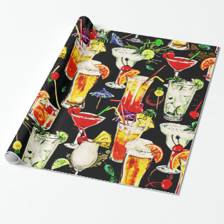 Cocktail Hour in the Tropics Wrapping Paper