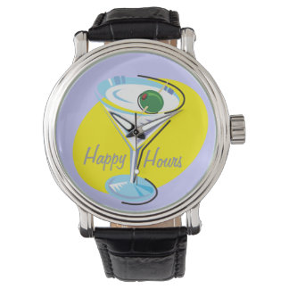 Cocktail Hour_retro-style Martini Glass_Happy Hour Watch