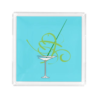 Cocktail Martini Glass Serving Tray