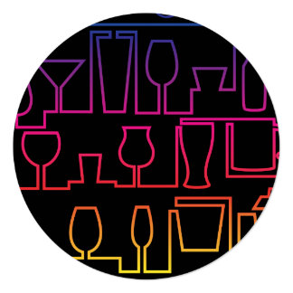 Cocktail maze card
