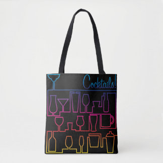 Cocktail maze tote bag
