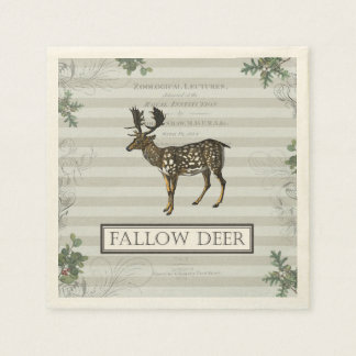 Cocktail napkin with Fallow Deer Paper Napkins