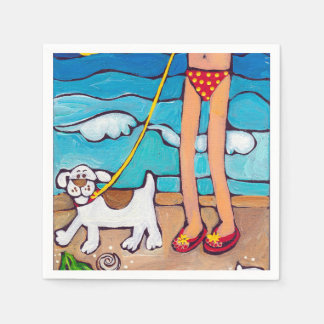 Cocktail napkins Jack and the Beach by Artzfolk Paper Napkins