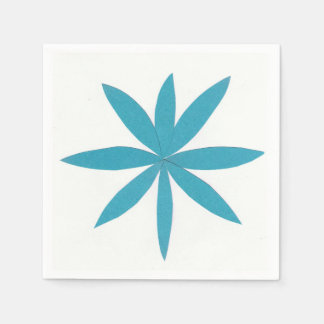 Cocktail Napkins with a Turquoise Star Design Disposable Napkins