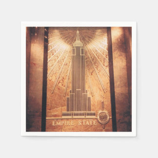 Cocktail Napkins with Empire State Building