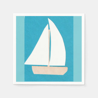 Cocktail Napkins with Sailboat Design
